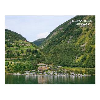 Carte Postale Vue de Geiranger, Ørnevegen, Norvège