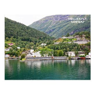 Carte Postale Vue de Hellesylt, Geirangerfjord, Norvège