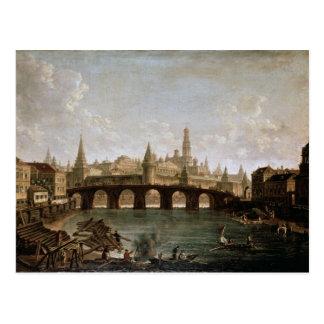 Carte Postale Vue de Kremlin et du pont de Kamenny