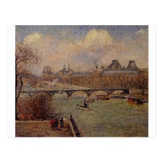 Carte Postale Vue de la Seine de la terrasse augmentée