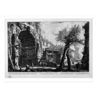 Carte Postale Vue de la voûte de Titus par Giovanni Battista