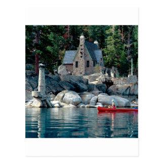 Carte Postale Vue de lac voyant en le canoë Tahoe