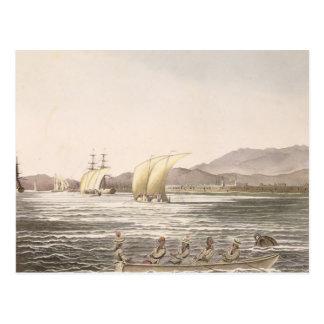 Carte Postale Vue de Manille, Philippines, 1826