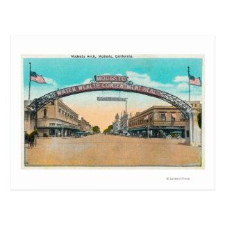 Carte Postale Vue de Modesto ArchModesto de accueil, CA