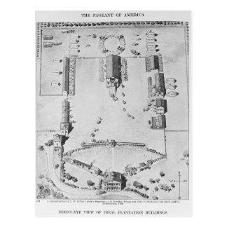 Carte Postale Vue de primevère farineuse des bâtiments idéaux de
