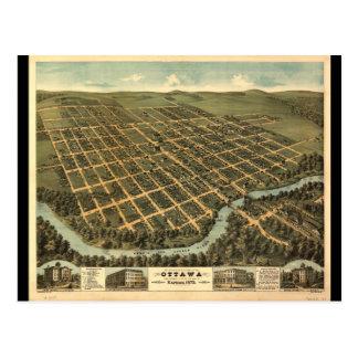 Carte Postale Vue de primevère farineuse d'Ottawa le Kansas