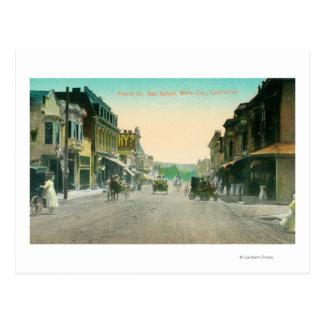 Carte Postale Vue de quatrièmes rue # 2San Rafaël, CA