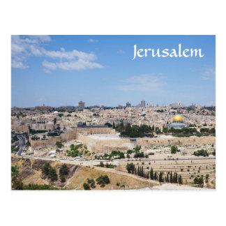 Carte Postale Vue de vieille ville de Jérusalem, Israël