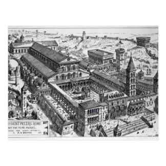 Carte Postale Vue de vieux St Peter, Rome, 1891
