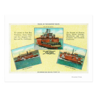 Carte Postale Vue des ferries de Richmond-San Rafaël