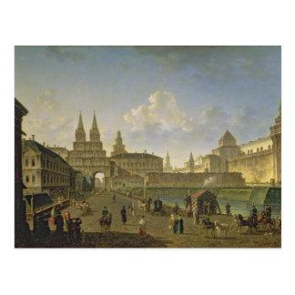 Carte Postale Vue des portes de Voskresensky et de Nikolsky