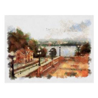Carte Postale Vue des serrures d'Ottawa de château Laurier