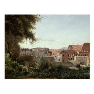 Carte Postale Vue du Colosseum des jardins de Farnese