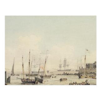 Carte Postale Vue du cornet de château, Guernesey, avec