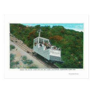 Carte Postale Vue du funiculaire de pente de Mt. Lowe