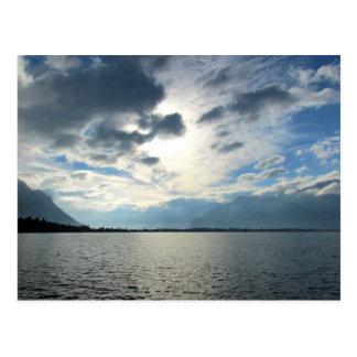 Carte Postale Vue du Lac Léman et des Alpes