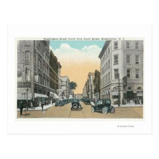 Carte Postale Vue du nord de rue de Washington de cour