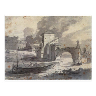 Carte Postale Vue du Tibre et du St de Castel Angelo par Jacques