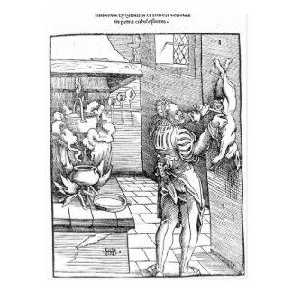 Carte Postale Vue d'une cuisine du 16ème siècle avec le