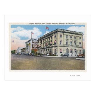 Carte Postale Vue extérieure de bâtiment fédéral, théâtre de