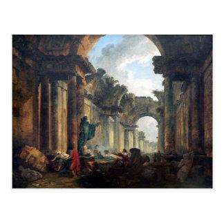 Carte Postale Vue imaginaire de la galerie grande du Louvre