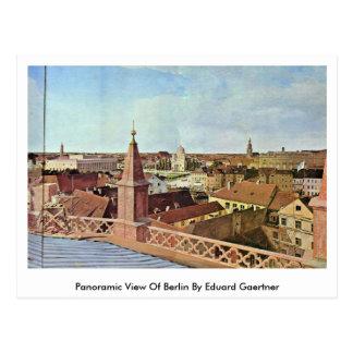 Carte Postale Vue panoramique de Berlin par Eduard Gaertner