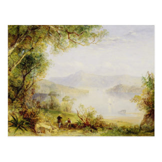 Carte Postale Vue sur le fleuve Hudson, c.1840-45 (huile sur le