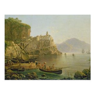 Carte Postale Vue vers Atrani sur Amalfi, 1817