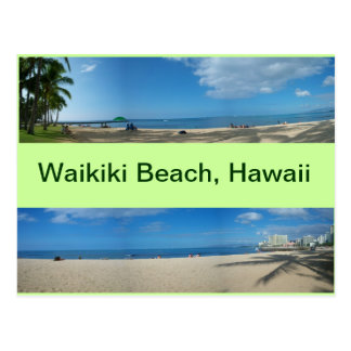 Carte Postale Vues panoramiques de plage Hawaï de Waikiki