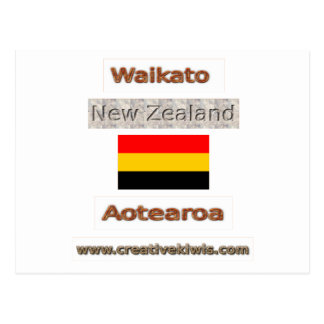 Carte Postale Waikato, Nouvelle Zélande Aotearoa