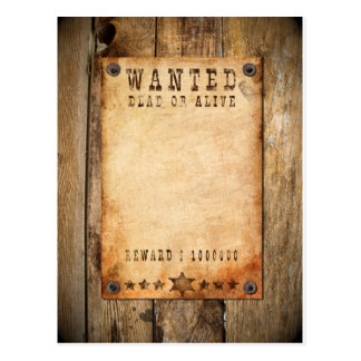 Carte Postale Wanted - 01