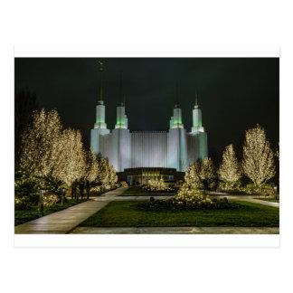 Carte Postale Washington D.C. Temple la nuit