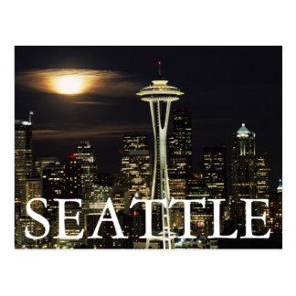Carte Postale Washington, Seattle, horizon la nuit de Kerry 2