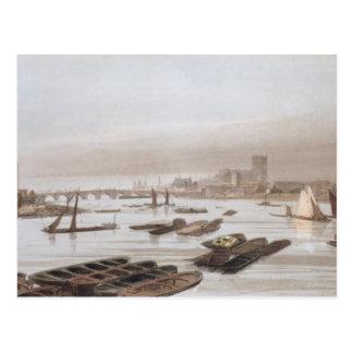 Carte Postale Westminster de pont de Waterloo, Th de