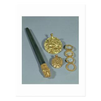 Carte Postale Whetstone et anneaux avec la décoration granulée,