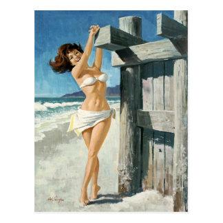 Carte Postale White bikini AT the beach