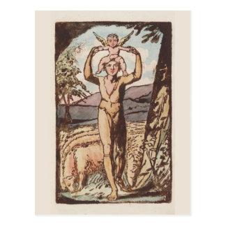 Carte Postale William Blake, chansons d'expérience, copie