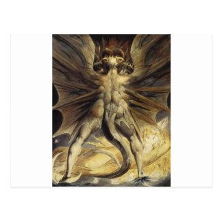 Carte Postale William Blake - le grand dragon rouge et la femme