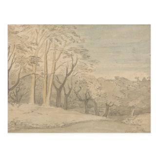 Carte Postale William Blake - un paysage de Woody