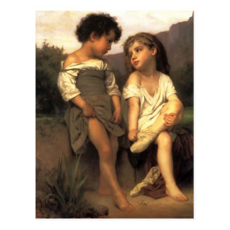 Carte Postale William Bouguereau- au bord du ruisseau