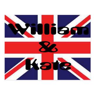 Carte Postale William et Kate