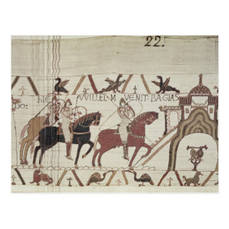 Carte Postale William le conquérant arrive à Bayeux