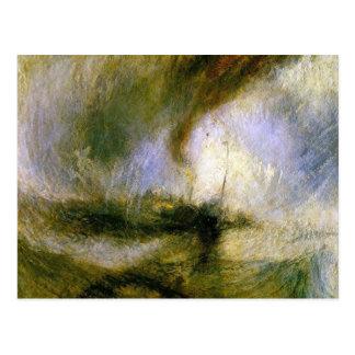 Carte Postale William Turner - tempête de neige