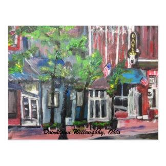 Carte Postale Willoughby du centre, peinture de l'Ohio sur une