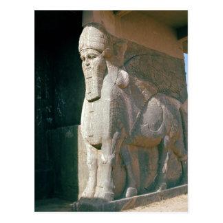 Carte Postale Winged humain-a dirigé le taureau, période