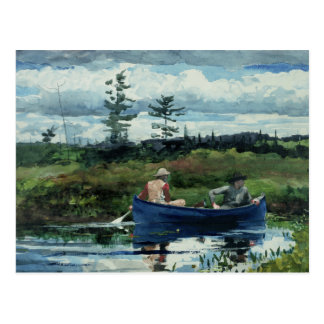 Carte Postale Winslow Homer - le bateau bleu
