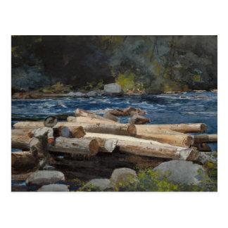 Carte Postale Winslow Homer - le fleuve Hudson