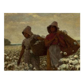 Carte Postale Winslow Homer - les récolteuses de coton
