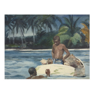 Carte Postale Winslow Homer - plongeurs occidentaux de l'Inde
