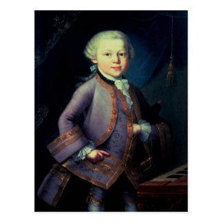 Carte Postale Wolfgang Amadeus Mozart, 1763